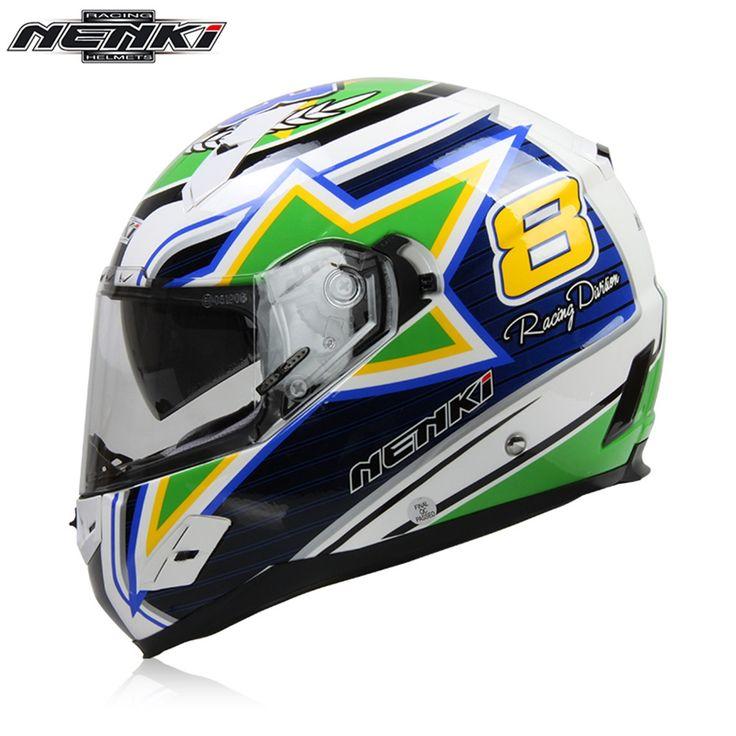 93.44$  Watch now - http://ali7ia.worldwells.pw/go.php?t=32728864900 - NENKI Fiberglass Motorcycle helmet Full Face Moto 856BR Capacetes Motociclismo Cascos Para Moto Casque Motosiklet Kask Helmets 93.44$