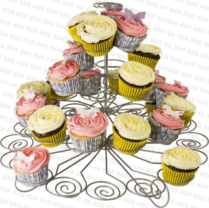 High-quality metal cupcake stand tree with 3 tiers to hold 23 cupcakes $21.00