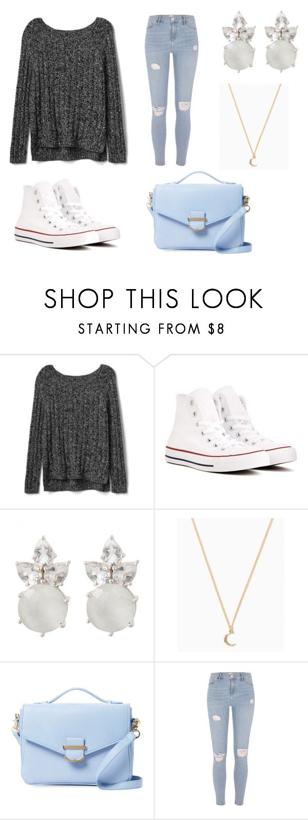 """""""School Day"""" by hannamccaw on Polyvore featuring Gap, Converse, Cynthia Rowley and River Island"""