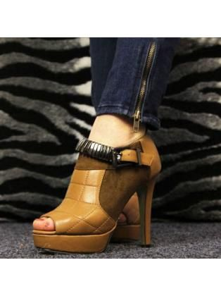 Quilted Patchwork High Heels