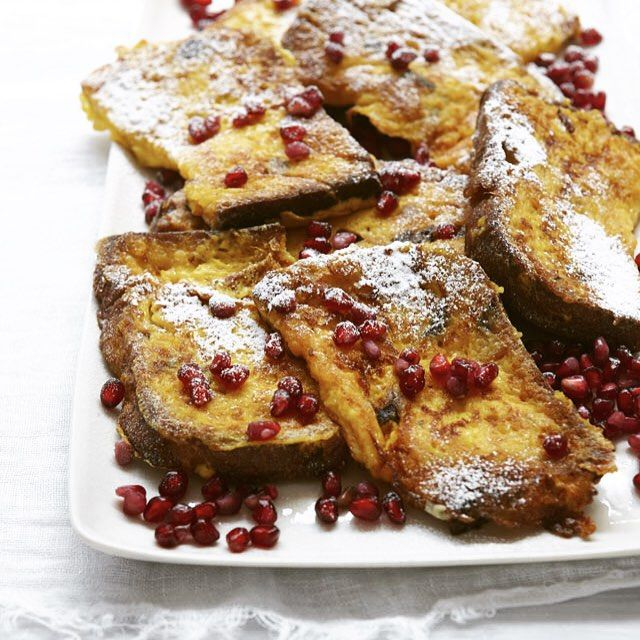 #recipeoftheday  Panettone French Toast  Photograph by @petrinatinslay  And the recipe is on my website; go to clickable link in profile
