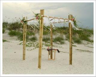 Wedding Arch Rentals | New Smyrna Beach Florist | Pink Flamingo at Petals