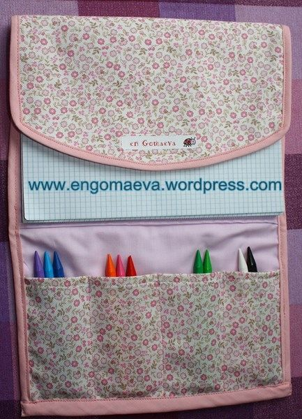 Pencil case for painting, colour Pink -- Estuche para pintar, color Rosa. Regalo Cumpleaños