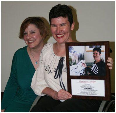 Jolie Sturm and Caprice at St. Joe's Wall of Fame Award ceremony.  2011