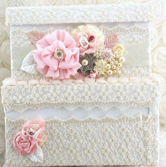 Bridal Card Box Keepsake Wedding Card Box in Ivory and by SolBijou, $170.00