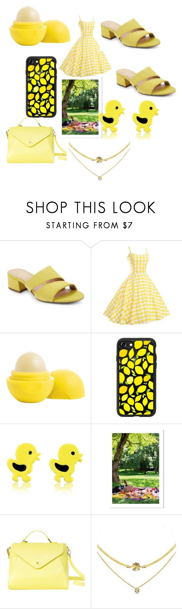 """Life Is A Picnic (Picnic Date Outfit) "" by theperfectstorm ❤ liked on Polyvore featuring Franco Sarto, Eos, Casetify and Paperthinks"