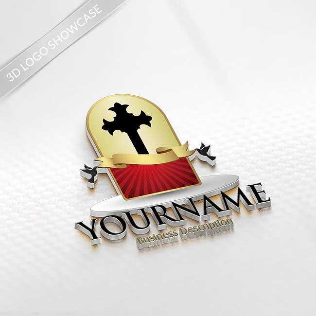 Online Logo Creator - Design Church Logo Crucifix Logo Template