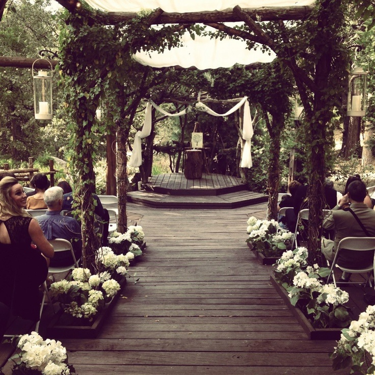 Wedding, Pine Rose Cabins, Lake Arrowhead, CA