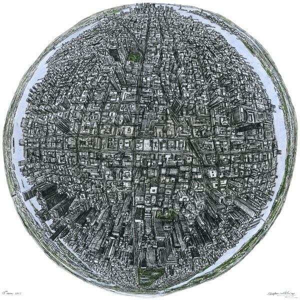 The Globe of New York - drawings and paintings by Stephen Wiltshire MBE