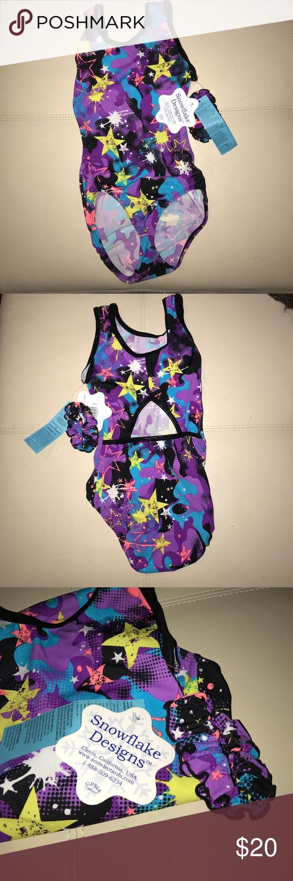 | Snowflake Designs | Leotard • Snowflake Designs - Adult Leotard. • Tag says Adult X - Sm but honestly looks like a child's leotard, probably would fit a teenage girl. (Selling for a friend). Brand new with tags and comes with Hair Scrunchie to match outfit.   Ask all questions prior to purchasing.  Fast Shipment.  Bundles encouraged for discounts. Snowflake Designs Costumes Dance