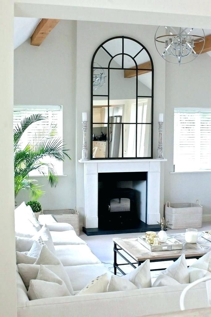 Mirrors Over Fireplace Mantels Fireplace Mirror Fireplace Mirrors Contemporary Living Room Furniture Furniture Design Living Room Luxury Furniture Living Room
