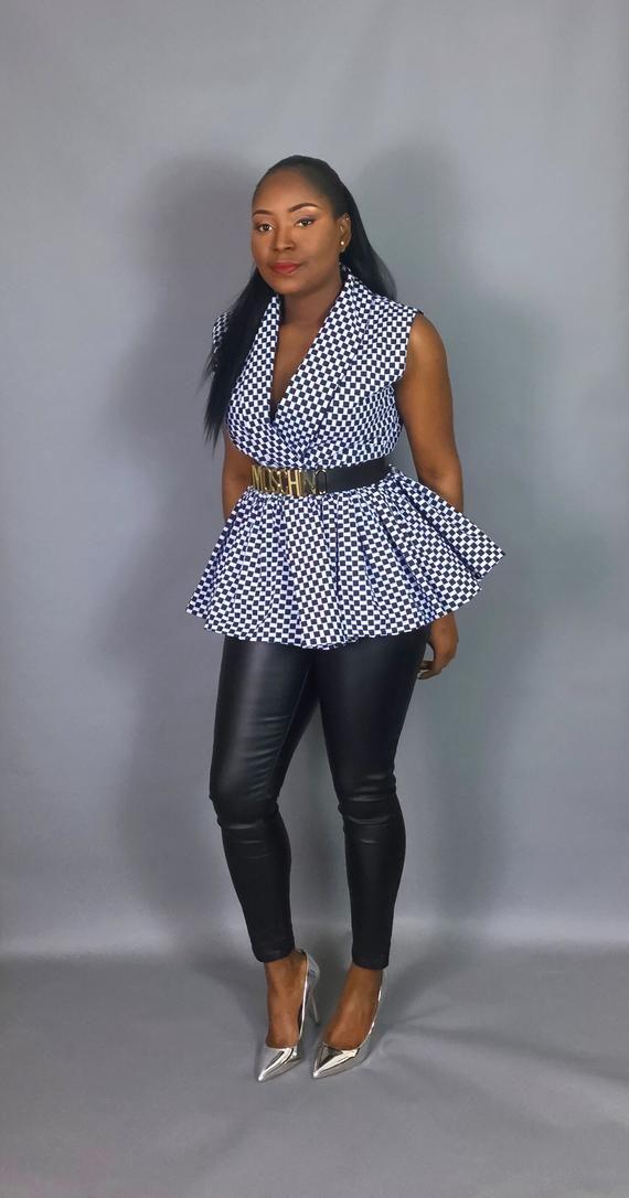 9c745f9693b1e4 African print topAfrican clothingAfrican print peplum
