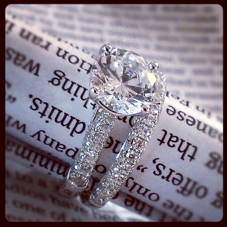 Love the set! Jeff Cooper engagement ring and wedding band