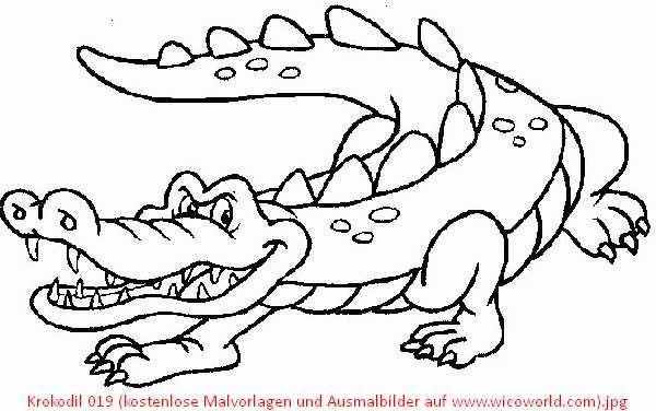 malvorlage kostenlos krokodil  tiffanylovesbooks