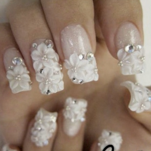 288 best nail art images on pinterest nail scissors fingernail 3d nail art well at least we found you nails for your wedding white flowers3d prinsesfo Image collections
