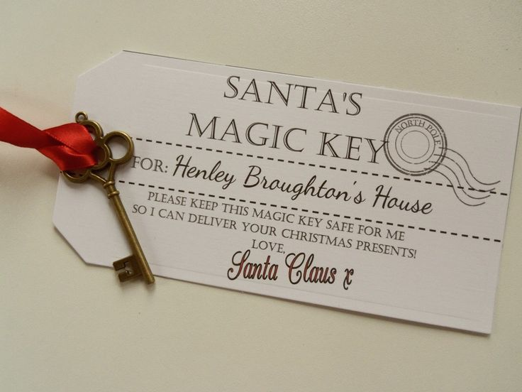 Magic Santa Key Printable Tags | Personalised Santa's Magic Key with Large Tag