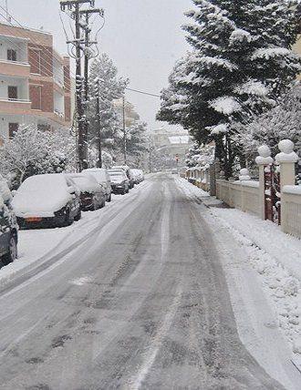 Winter in Tripoli, Arcadia, Greece