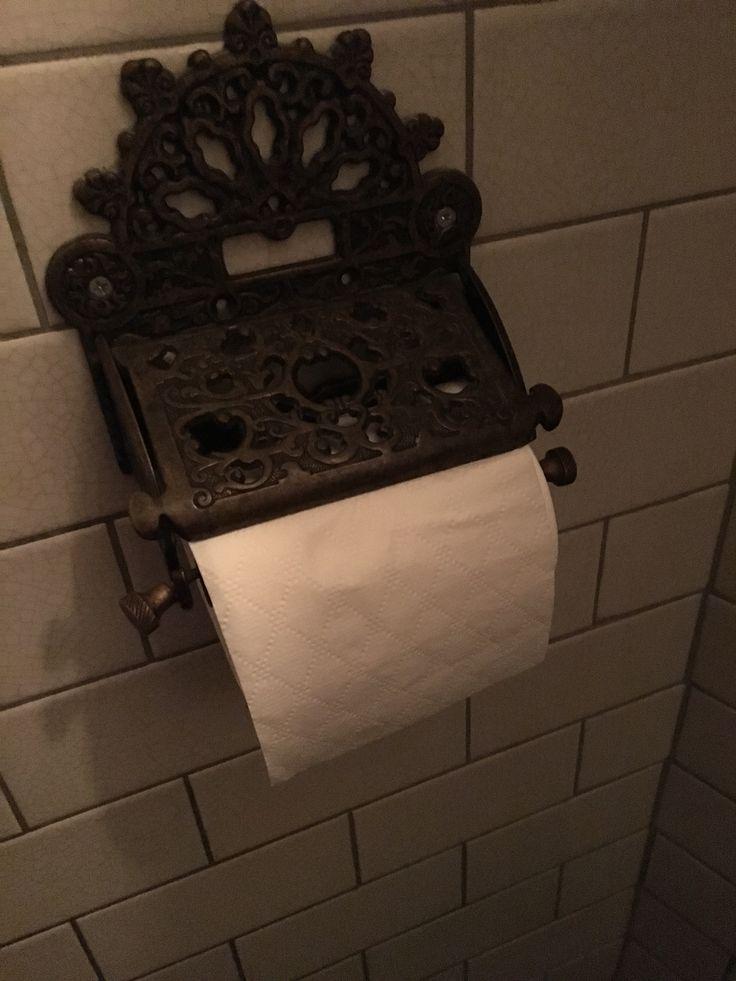 Toilet roll holder at Mac n Wild ladies room in London