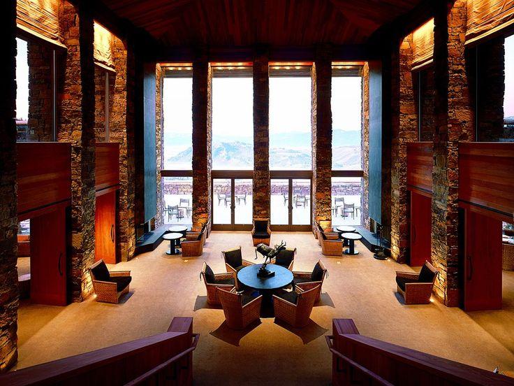 The Impressive Entryway Area At Amangani Resort Worth A Visit If Only For Jackson Hole Wyomingmountain Resortski Resortsluxury Hotelsbest