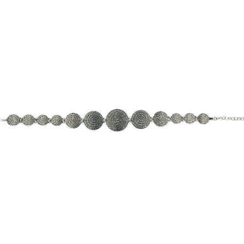 Phaistos disc silver bracelet greek jewelry by ThetisTreasures
