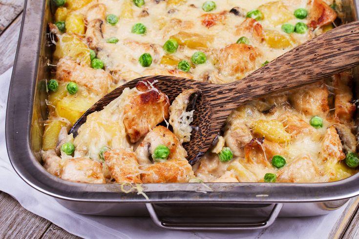 Krumpliágyon sült sajtos csirkemell: szaftos, pikáns, és könnyű elkészíteni