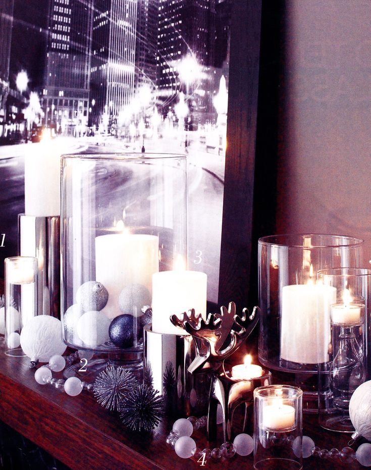Christmas decorations, silver and white Christmas, elegant Christmas table decorations #camillestyles