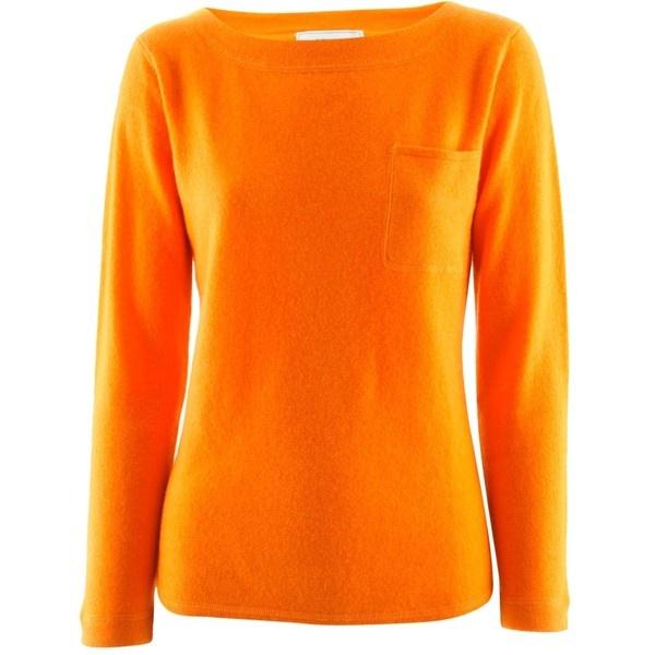 Eickhoff Orange Cashmere Pullover Tokyo ($240) ❤ liked on Polyvore