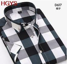 O novo 2017 chun xia homens camisa xadrez camisas de vestido com mangas curtas lazer profissional(China (Mainland))