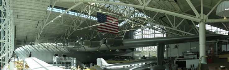"""Hughes H-4 Hercules flying boat, the """"Spruce Goose"""" at the Evergreen Aviation & Space Museum - Hughes H-4 Hercules - Wikipedia"""