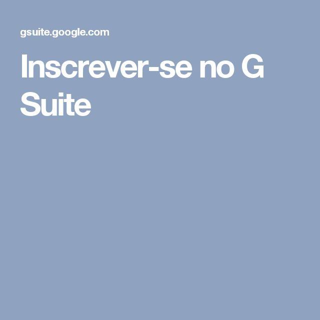 Inscrever-se no G Suite