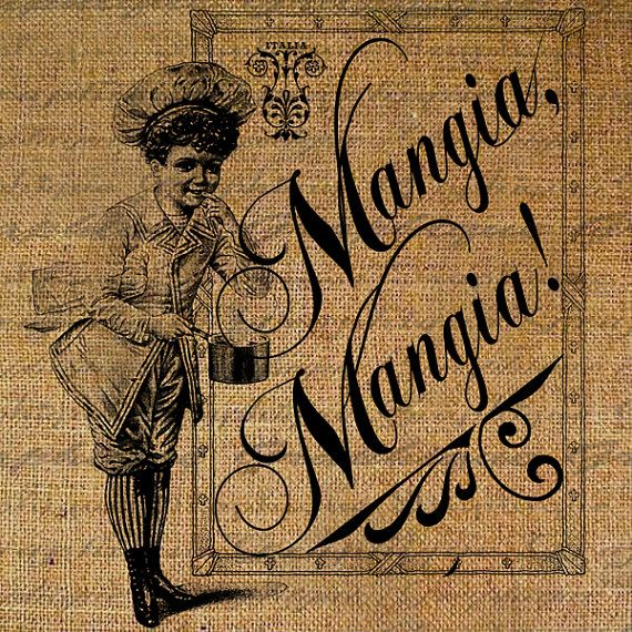 Mangia Mangia Eat Eat Quote Italian Food Kitchen by Graphique, $1.00