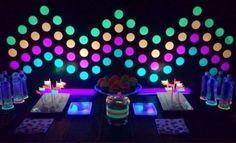 adesivo neon para decorar festa 15 anos