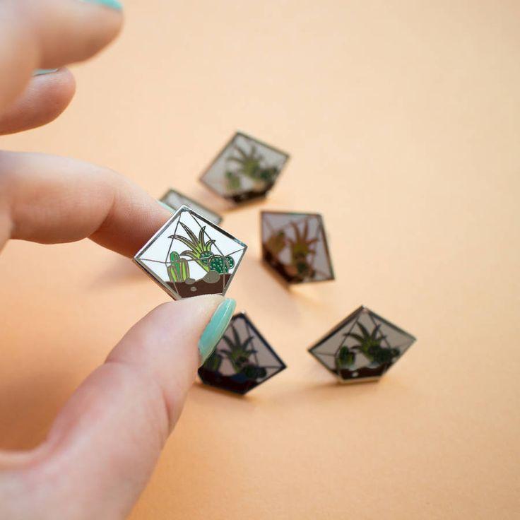 Cactus Terrarium Enamel Pin