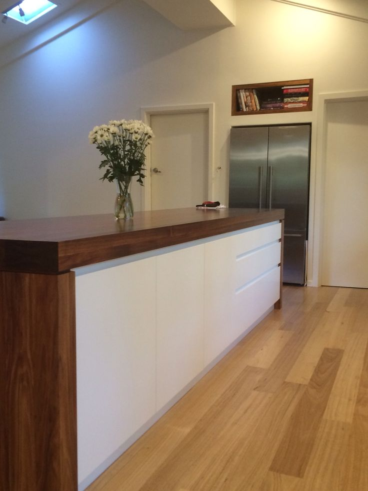 Kitchen Island Bench Top 90mm Blackwood Timber End