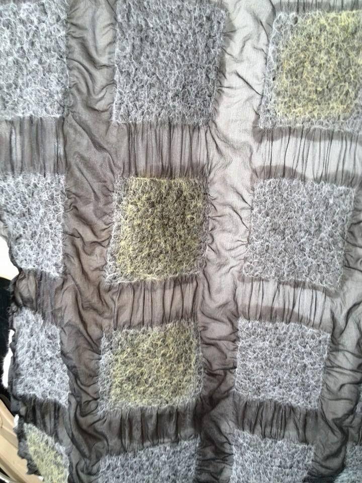 silk & wool -- nuno felt -- viltatelier Bodyflower