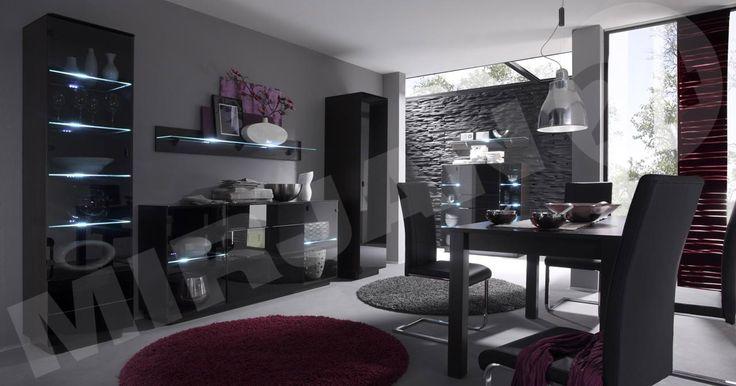 Beautiful, black tea salon in a high gloss. Additional charge LED lighting.