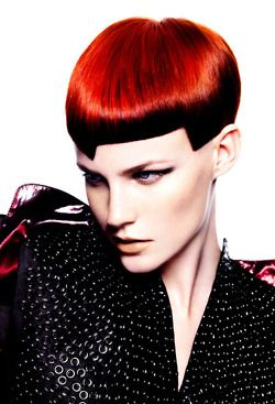 RIP Vidal Sassoon: Amazing Asymmetrical Candy Colored Hair