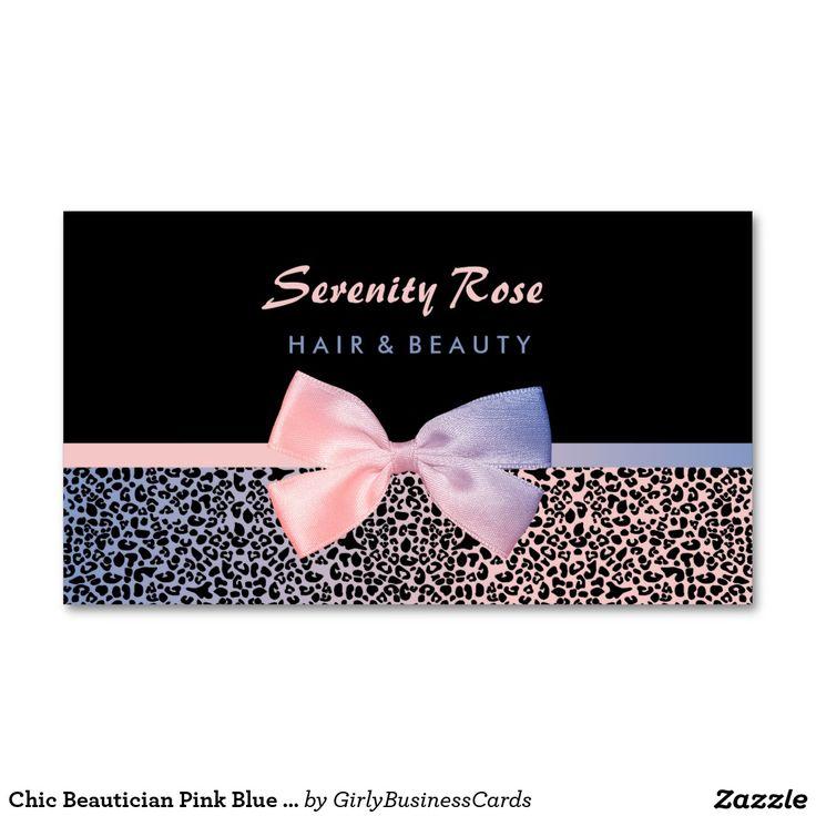 Pink Fashion Hairdresser Business Card