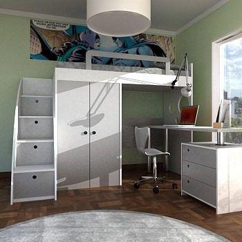 M s de 1000 ideas sobre cama alta en pinterest cabeceras - Camas juveniles altas ...