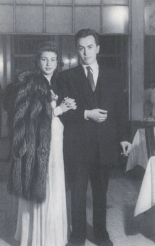 Edip Cansever ve eşi