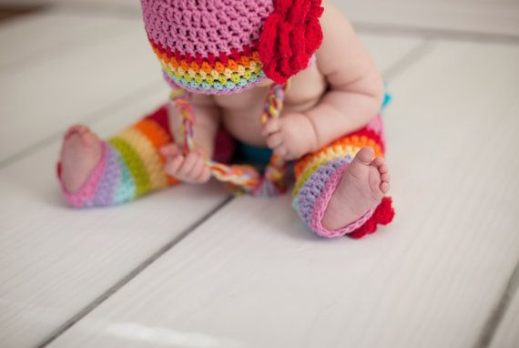 Baby leg warmers, rainbow leg warmers, crochet leg warmers, girls leg warmers, baby legwarmers, legwarmers, baby legs on Etsy, $22.00