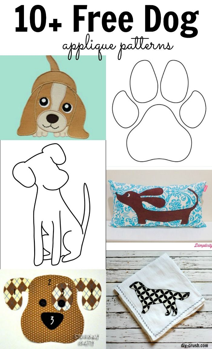 10+ free dog applique patterns for download