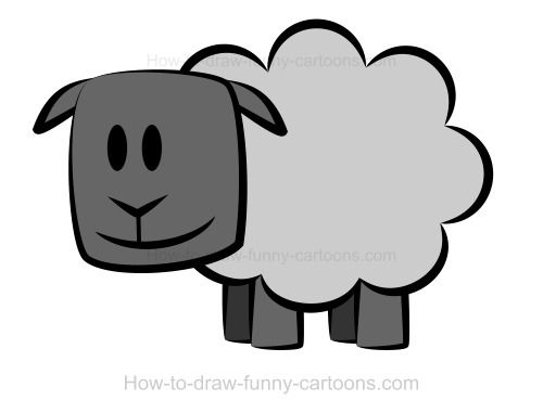 drawing a sheep - Simple Shapes