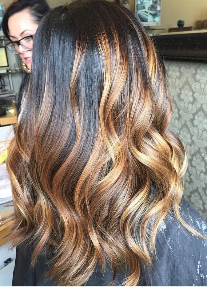 best 25 red balayage highlights ideas on pinterest. Black Bedroom Furniture Sets. Home Design Ideas