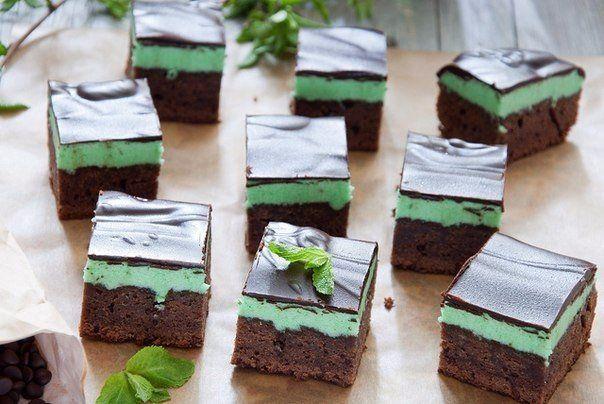 Шоколадно — мятные брауни. Для поклонников ирландских традиций!