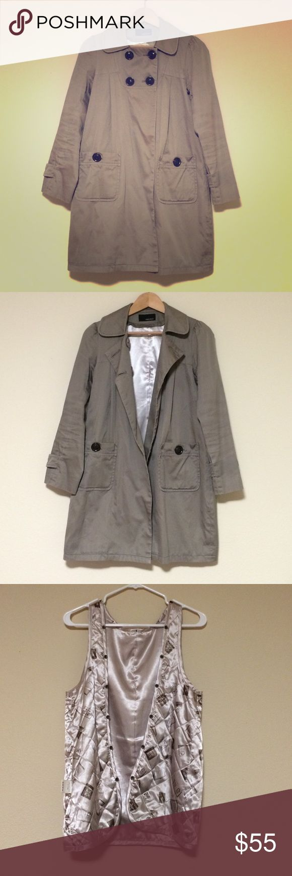 🍁2 ways Trench coat 🍂 Inside pad inner is detachable, so you can use through fall to winter☃, to spring🌸 Super cute earthy brown beige color💕 from Japan Page boy Jackets & Coats Trench Coats