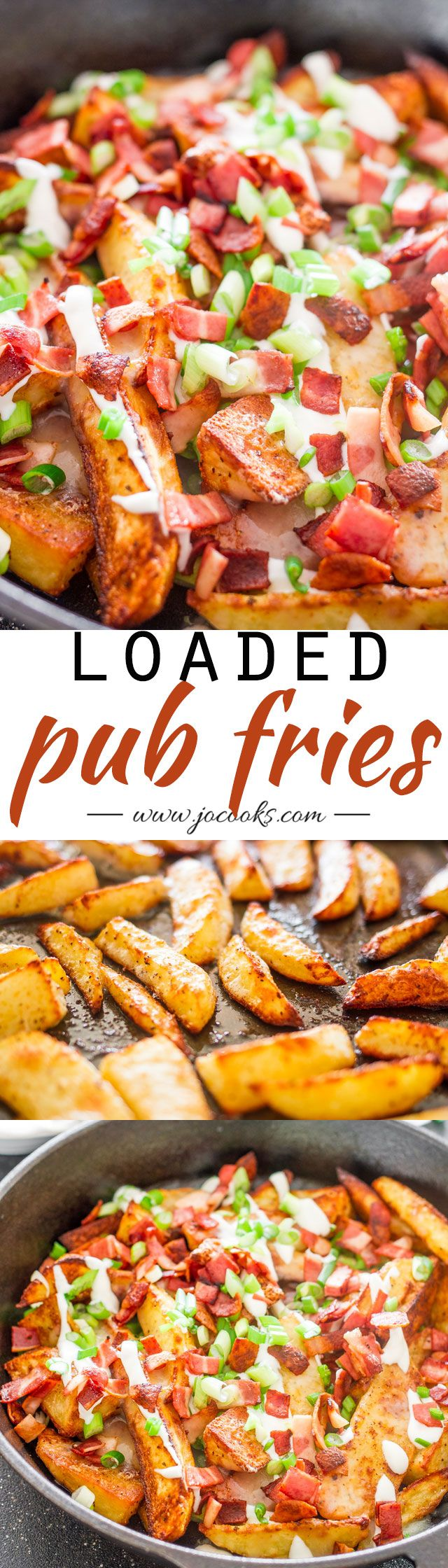 Loaded Pub Fries - just like the pub fries from your local pub, just made at home, healthier and yummier.