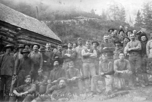 A part of the force of the Calaope Silver Mine Ouray Co Colo :: 1884