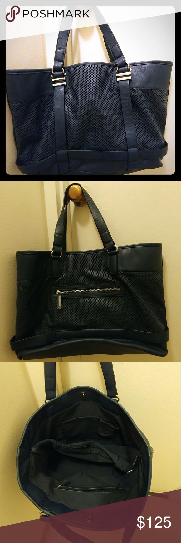 French Connection Dark Navy Shoulder Bag/Purse Never been used and is brand new. It doesn't have tags, however. French Connection Bags Shoulder Bags