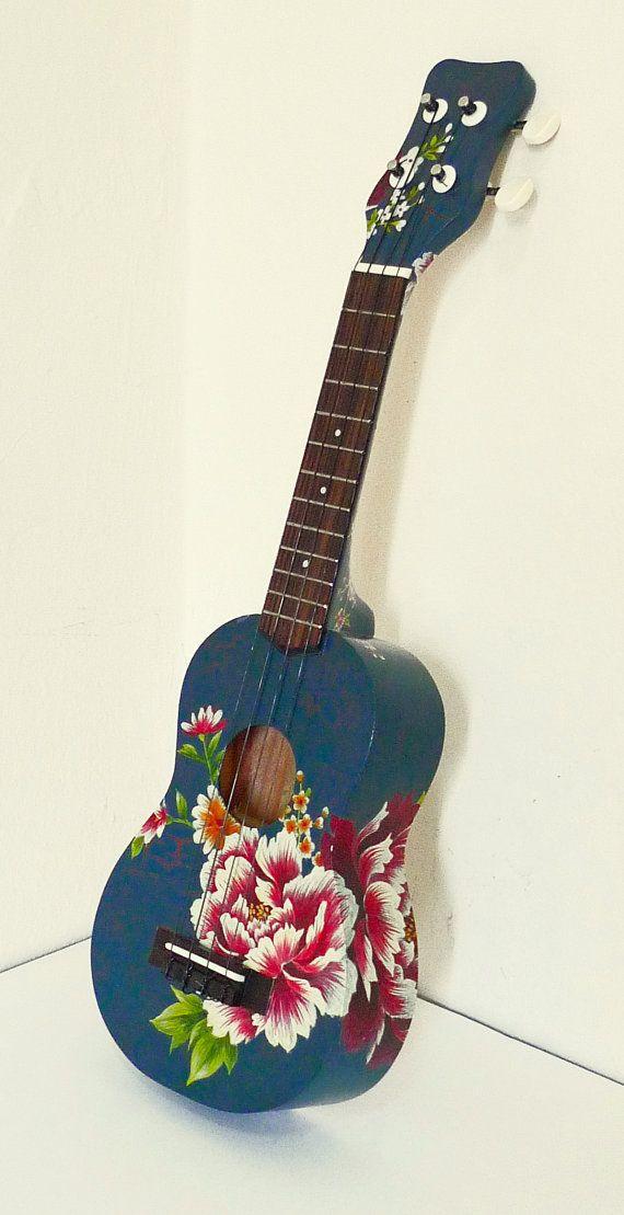 Artist-Painted Ukulele by WenHuaChen on Etsy                                                                                                                                                                                 More